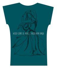 Camiseta . Aquarela Fundo Verde