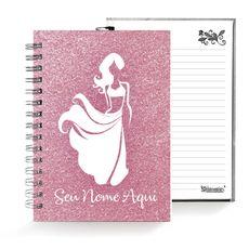 Caderno . Shimmie Glitter Bailarina 2021 . Rosa . Pequeno