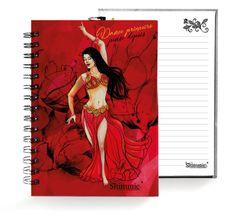 Caderno . Shimmie Vermelha . Pequeno