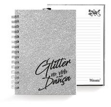 Caixa Glitter . Caderno . Prata