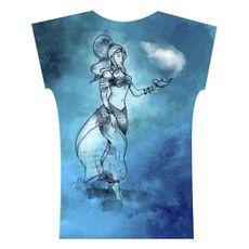 Camiseta . Azul. Desejos