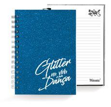 Caixa Glitter . Caderno . Azul