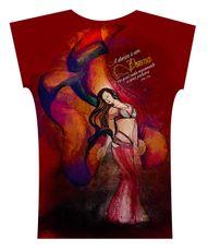 Camiseta . Aquarela Oriental