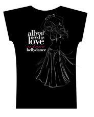 Camiseta . All You Need . Preta