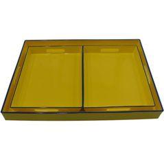 Conjunto com 3 Bandejas Amarelas - G 48X35   P  29X22