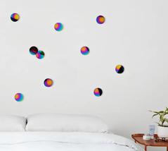 Adorno de Parede Confete Rainbow 10pçs