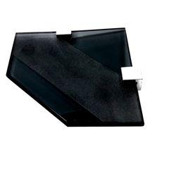 Saboneteira ou Porta Sabonete de Canto Preto Vidro Temperado de 8mm