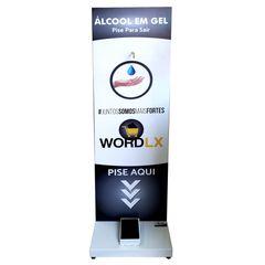 Supor em Aço para Álcool em Gel 150x45x45cm