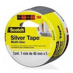 3M Fita Adesiva Silver Tape - Multi Uso, 3939 (45mm x 5m)-Unidade