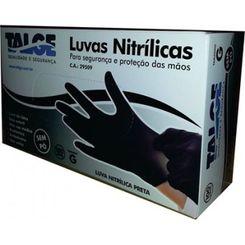 Talge - Luva Nitrílica Preta - Tamanho G (Caixa com 100 unidades)
