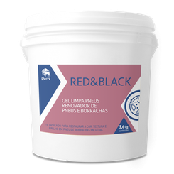 Perol Gel Renovador de Pneus e Borrachas Red&Black - 3,6L