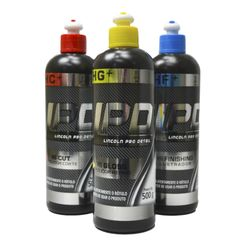 Lincoln LPD Kit - Hi Cut+, Hi Gloss+, Hi Finishing+ - Corte, Refino e Lustro - Nova Fórmula (3un)