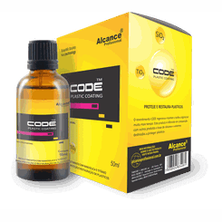Alcance - CODE Plastic Coating - Revestimento com Nanosilica e Titânio para Proteção e Restauração de Plásticos - 50ml
