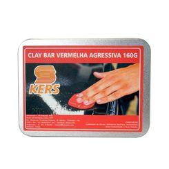 Kers Clay Bar Vermelha - Barra de Descontaminação de Pintura - Agressiva - 160g