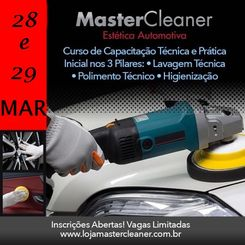 Curso MasterCleaner Estética Automotiva - Turma dias 28 e 29 de Março