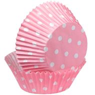 Pink Polka Dots Baking Cups - Wilton