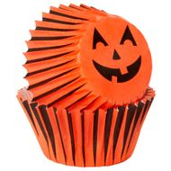 Jack-O-Lantern Mini Baking Cups - Wilton