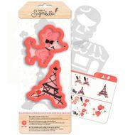 Kit Decoração de Biscoito Ooh La La Paris - Sweet Sugarbelle