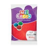 Açúcar Vermelho para Decoração (500g) - Mil Cores