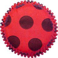 Forminha para Mini Cupcake Mago (45uni) - Vermelha Pois