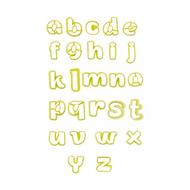Conjunto Cortadores Alfabeto Letras Minúsculas (3,5cm e 5,4cm) - BlueStar