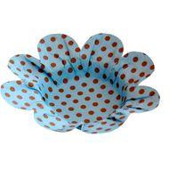 Forminha Margarida Pois - Azul com Marrom (50 uni)