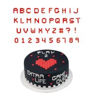 Cortadores de Letras e Números Pixels Minecraft (2cm) - Celebrate
