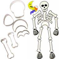 6-Pc. Skeleton Metal Cookie Cutter Set - Wilton