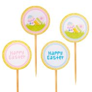 Enfeite Happy Easter (12uni) - Papel Confeito
