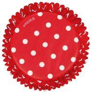 Forminha de Papel para Cupcake Red Polka Dots - Wilton