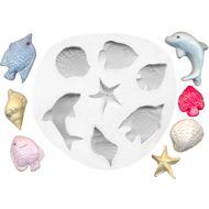 Molde de Silicone Motivos Marinhos Médio - Gummies