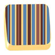 Transfer para Chocolate (40 x 30cm) - Listras Marrom e Azul