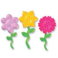Enfeite Flores Coloridas (3uni)