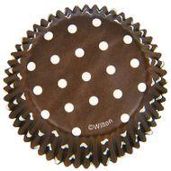 Forminha de Papel para Cupcake Brown Polka Dots - Wilton
