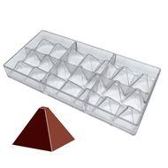 Molde para Chocolate em Policarbonato - Pirâmide