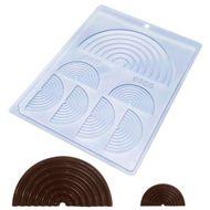Forma de Chocolate Acetato Arco Íris (10 uni) - BWB
