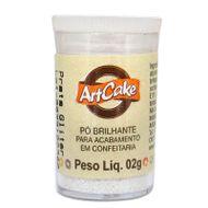 Pó Brilhante para Acabamento ArtCake - Prata Glitter