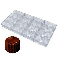 Molde para Chocolate em Policarbonato - Frisado