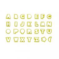 Conjunto Cortadores Alfabeto Letras Grande (3,5cm) - BlueStar