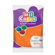 Açúcar Laranja para Decoração (500g) - Mil Cores