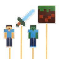 Enfeite Minecraft (12uni) - Papel Confeito