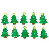 Enfeite de Natal em Açúcar Mini Árvore (10uni) - Jady Confeitos