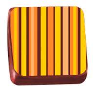 Transfer para Chocolate (40 x 30cm) - Listras Laranja e Amarelo