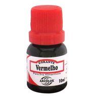 Corante líquido Arcolor 10ml - Vermelho
