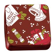 Transfer para Chocolate (40 x 30cm) Feliz Natal - Stalden