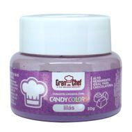 Corante Lipossolúvel em Pó para Chocolate Lilás Candy Colors (30g) - Gran Chef