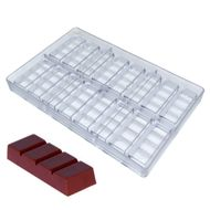 Forma de Chocolate em Policarbonato Tablete/Barra 20g - Gramado Injetados