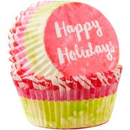 Happy Holidays Standard Baking Cup - Wilton