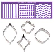 Geometric Fondant Cut-Outs Pattern Set - Wilton
