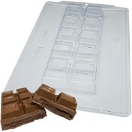 Forma de Chocolate Acetato com Silicone Tablete/Barra para Rechear Grande 1Kg - BWB Premium